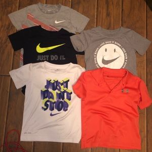 Boys 4T T-shirt bundle Nike and Under Armour